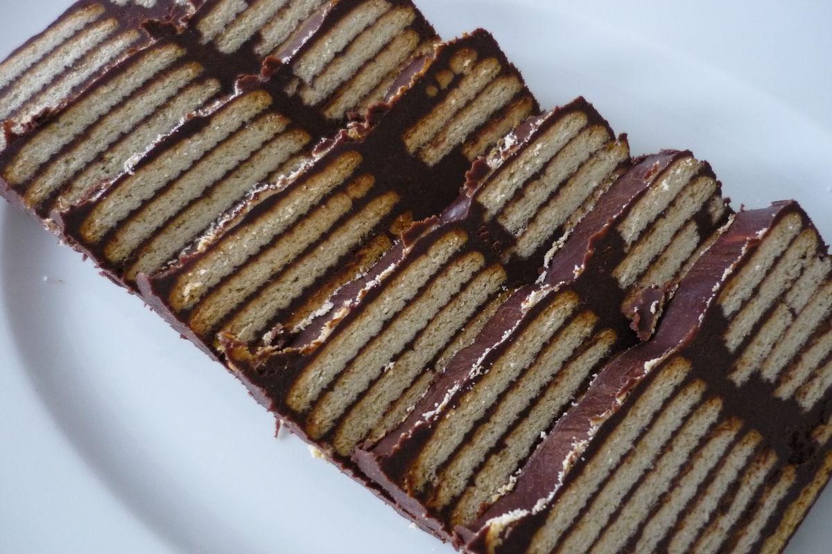 kalte schnauze mit blockschokolade