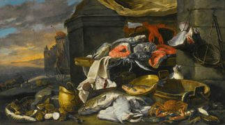 Fish, oysters, a crab and a lobster with cats... by Jan Fyt.jpg