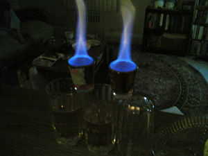 Flaming Dr Pepper