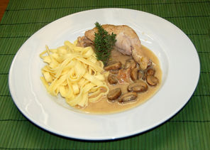 Huhn in Riesling