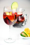 Red Wine Sangria with lemon, lime, apple, and orange served in a glass - Evan Swigart.jpg